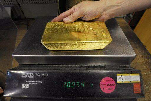 一家奧地利黃金公司內展示的一塊重10公斤的金塊:一家法國小公司正在銷售它研發的一項新技術,該技術可以被用於從廢水中提取黃金