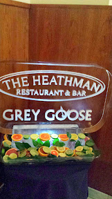 Launch of new Heathman cocktail menu event- Ice Sculpture