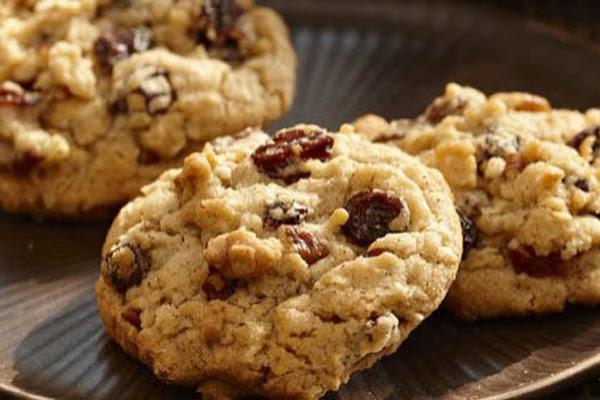 Cookies de Passas com Aveia