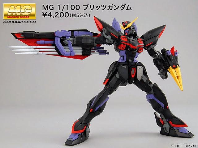 Blitz Gundam MG 1/100 được trang bị vũ khí phong phú