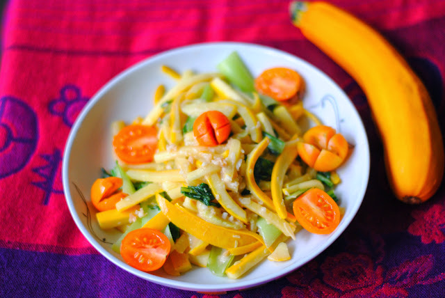 zucchini bok choy stir-fry recipe by ServicefromHeart