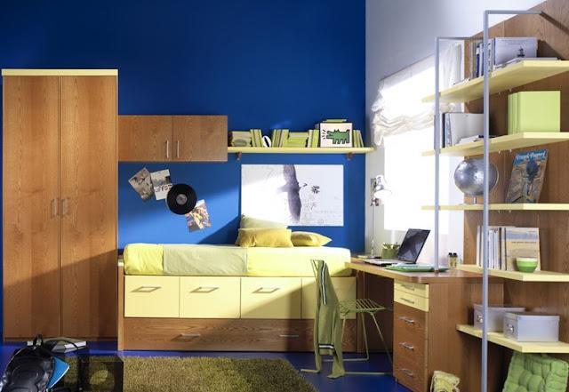 Dormitorios juveniles en color azul ideas decoraci n ig for Cuartos decorados azul