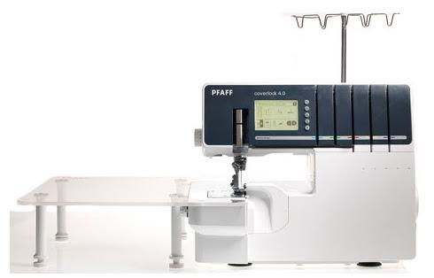 Sinipellavainen tikkaa: PFAFF Coverlock 4.0