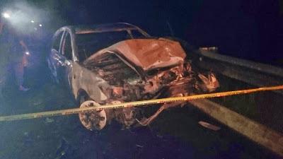 Keadaan Kereta Allahyarham Dato Ustaz Abu Bakar Chik