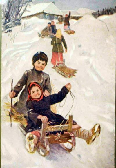 Масленица на открытках в дореволюционной россии