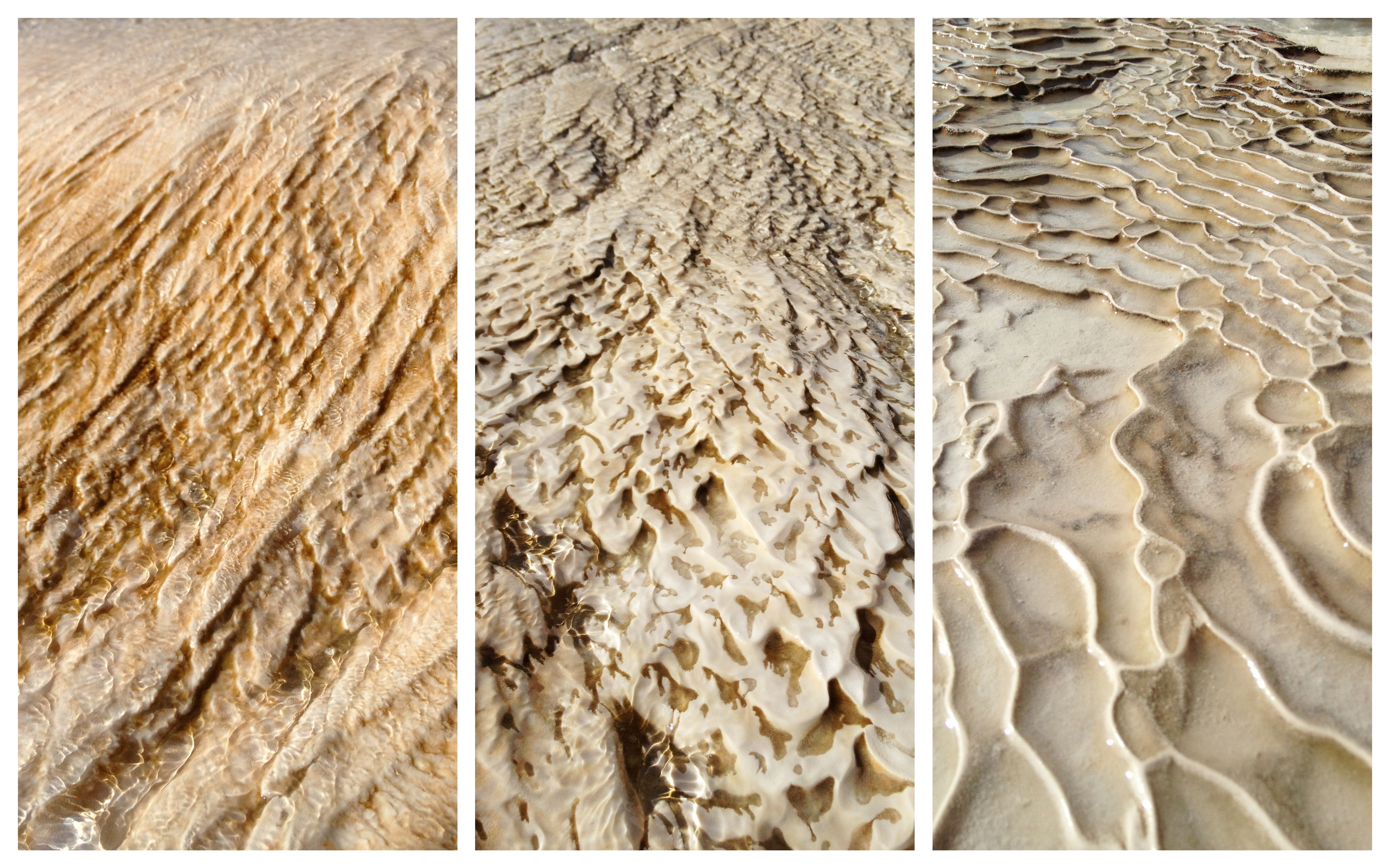 The different fascinating shapes of mineral deposits left behind