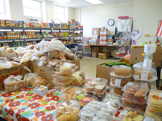 "The ""Distribution Room"" is ready for families to come in."