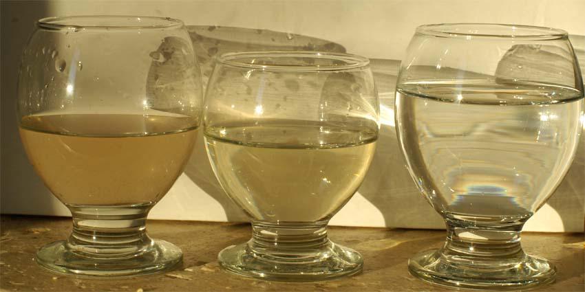 Préparation de l'eau pour les changements Eau