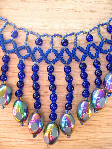 Blue Glass Necklace by Ta Meu Bem