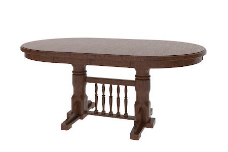 """62"""" x 36"""" Riverside Table in Frontier Oak"""
