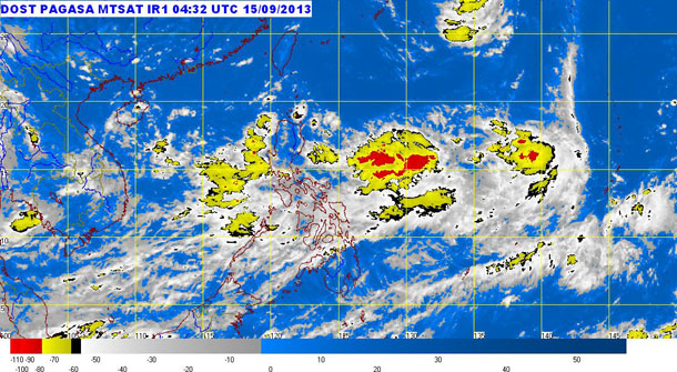 Satellite image as of 11:32 a.m.