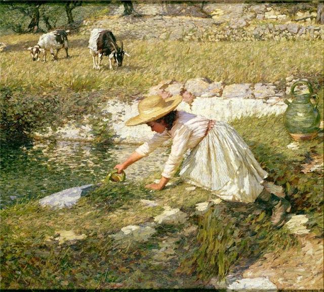 Henry Herbert La Thangue - Provencal Spring