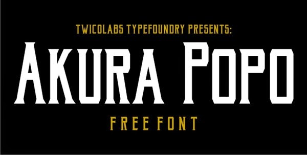 Akura Popo Free Fonts