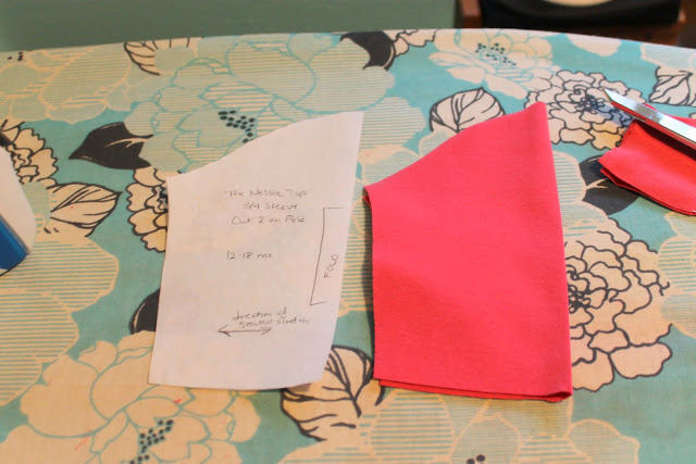 cutting a pattern using freezer paper