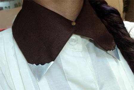 Customização de gola de camisa