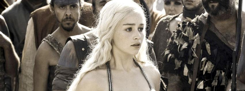Emilia Clarke as daenerys targaryen facebook cover