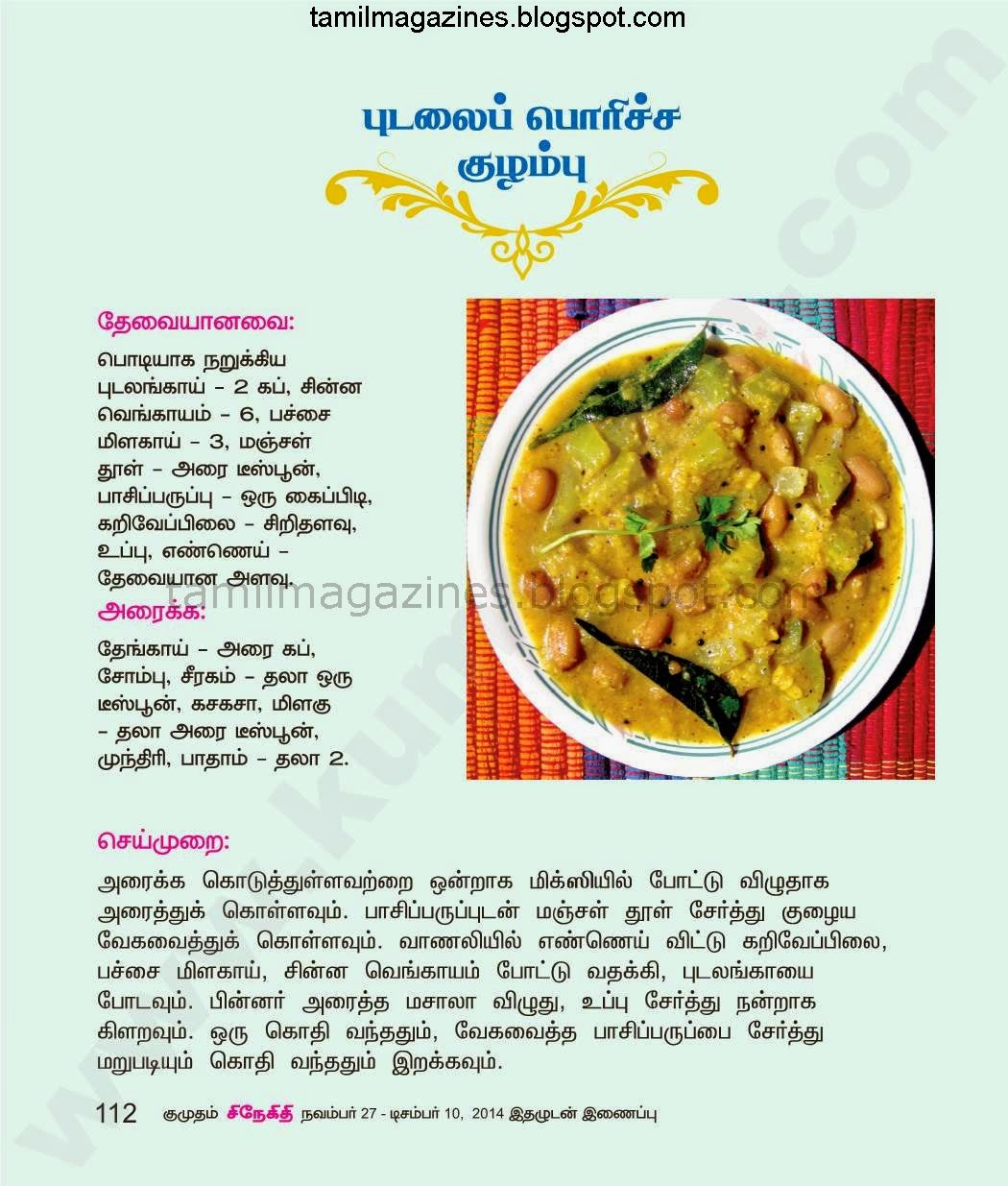Aval vikatan recipes