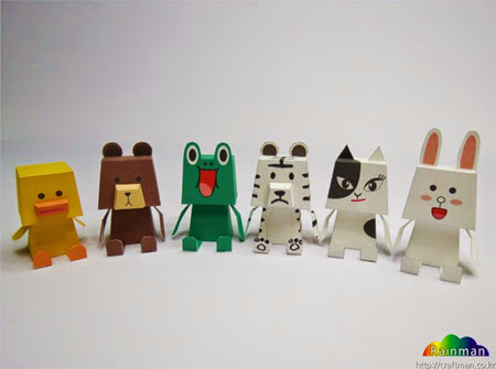 Naver Line Friends Paper Toy