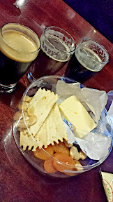 Alesmith Brewing, cheese plate to go with our tasting portions of beer