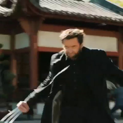 The Wolverine Logan unleashes at a funeral