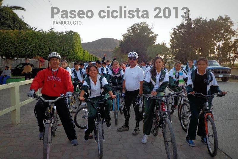 Paseo ciclista 2013 en Irámuco, Guanajuato