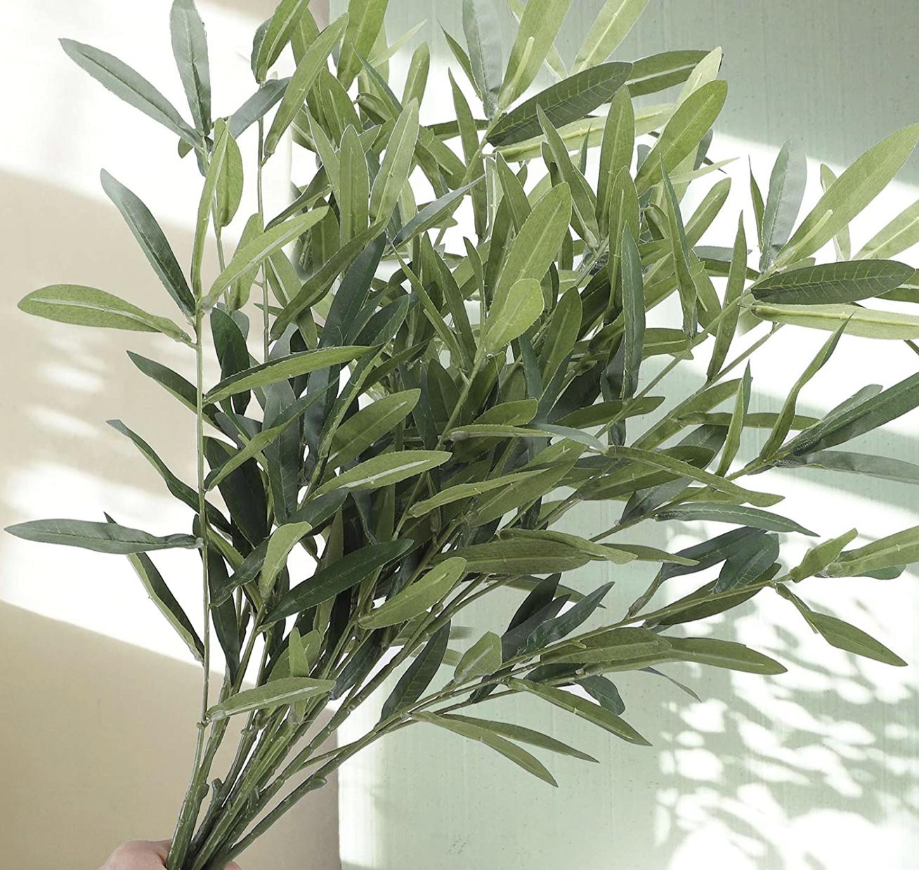 artificial olive leaves for wedding floral arrangement