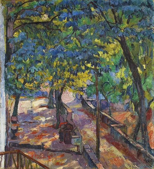 Giovanni Giacometti - Crotti di Bondo (Unter den Kastanien), 1919