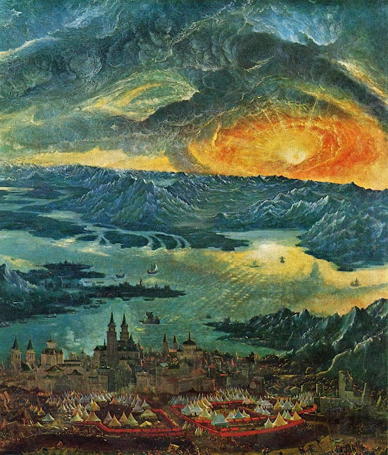 Albrecht Altdorfer - The Battle of Alexander at Issus , Detail