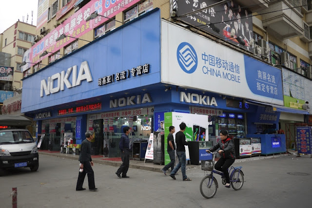 Store with Nokia sign in Nanping, Zhuhai, China