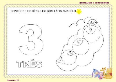 Atividade matematica maternalzinho numeral 3