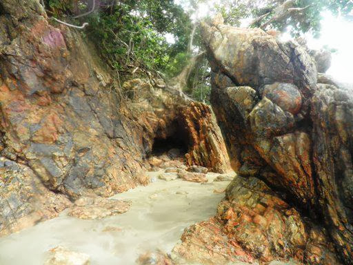 Small cave in Saranjana at Pulau Laut Island