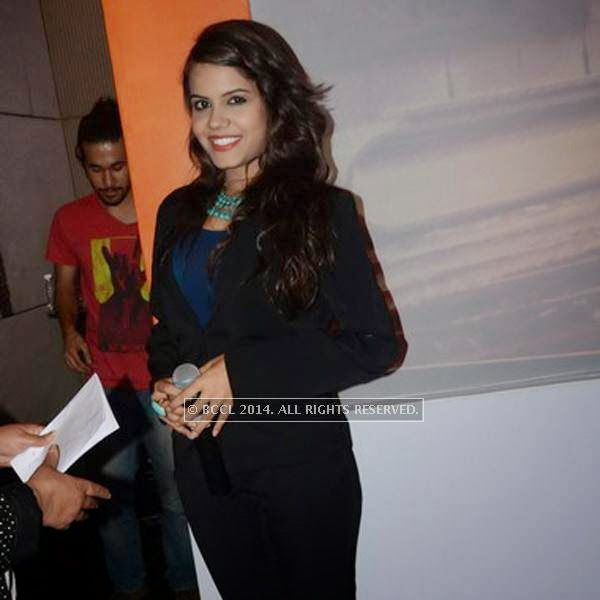 Priyanka Bhalla during the SS Group launch party, held  at Taj Vivanta, in Gurgaon.