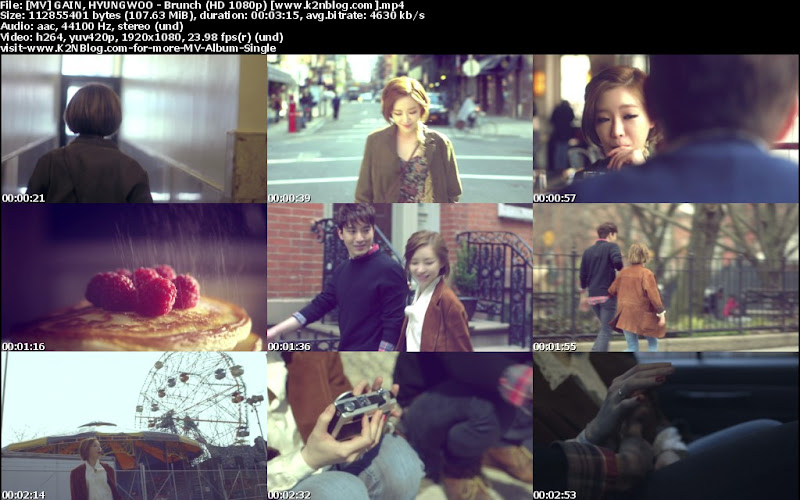 (MV) Ga In & Cho Hyung Woo - Brunch (HD 1080p Youtube)