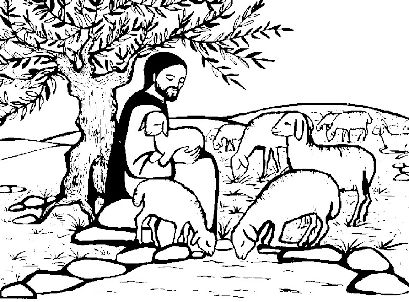 Dibujos Católicos Imagenes De Jesús Pastor Para Colorear