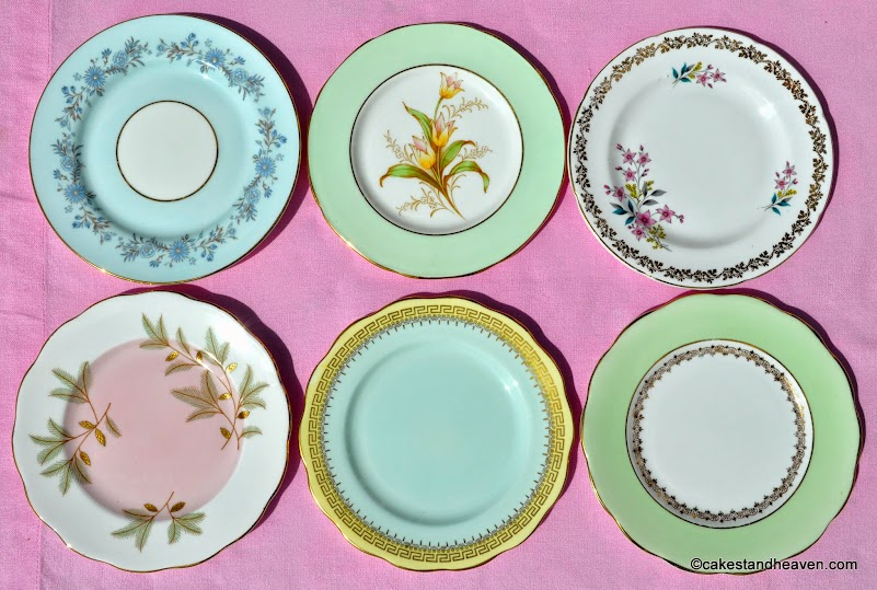 Pastels Tea Set Six Eclectic Tea Plates