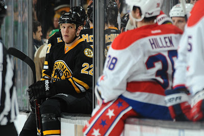 Shawn Thornton stares at the Capitals bench