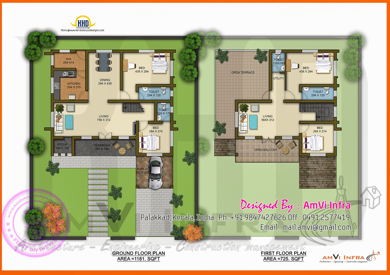 Square Meters House Plan  Square Feet House Models - House design 80 sqm