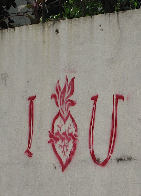 possibly religious graffiti