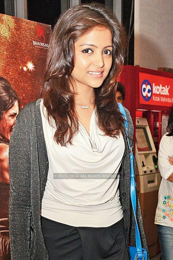 Avantisha during the screening of Salman Khan's latest film Kick, at a city multiplex.