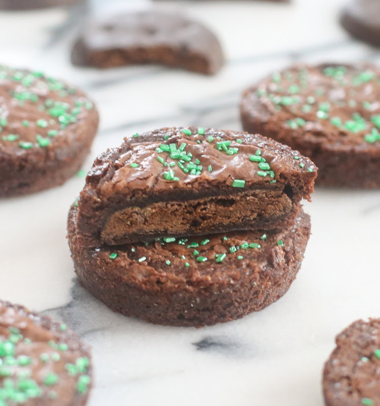 close-up photo of Brownie Covered Thin Mints