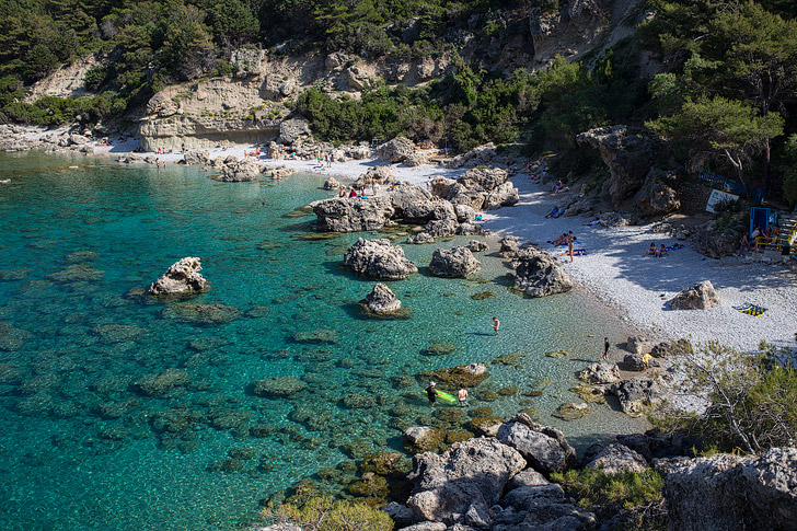 Anthony Quinn Bay Faliraki (15 Most Beautiful Beaches in Greece You Must Visit).