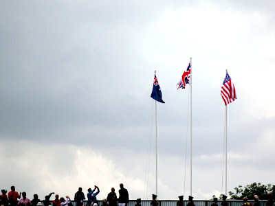Flags at the Olympics rowing in London