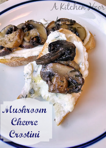 A Kitchen Hoor's | #MeatlessMonday Roasted Mushroom & Goat Cheese Alfredo