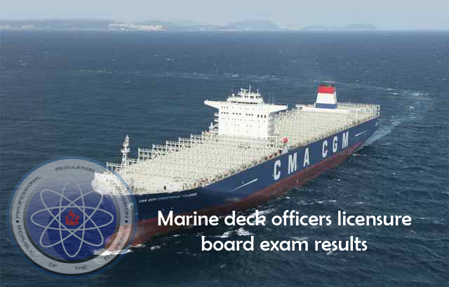 marine deck officers licensure exam results november 2012