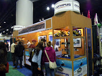 olympus booth at Vancouver Outdoor Adventure and Travel Show