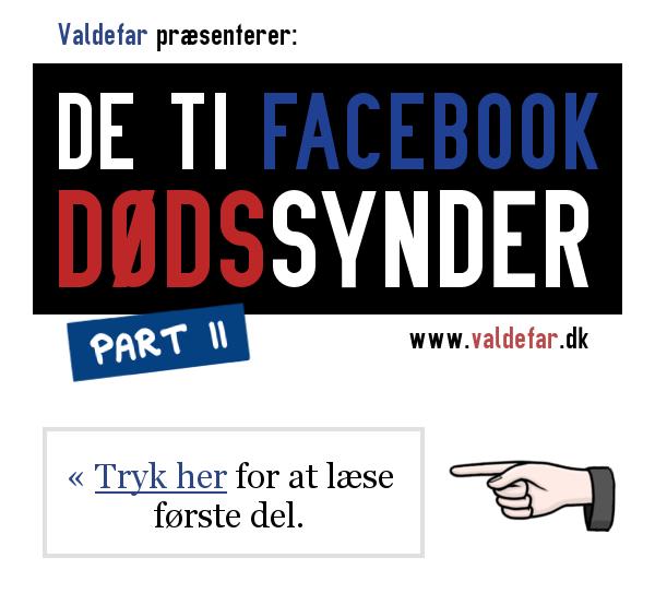 De 10 dødssynder på facebook