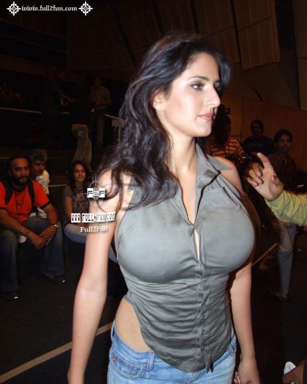 Katrina Kaif Look Hot in Tight Dress huge Breast Display