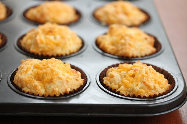 photo of Macaroni and Cheese Muffins in a baking tin