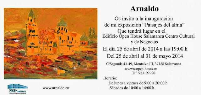 Exposición Paisajes del alma, de Arnaldo, en OpenHouse Salamanca