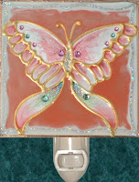 butterfly in pink and white